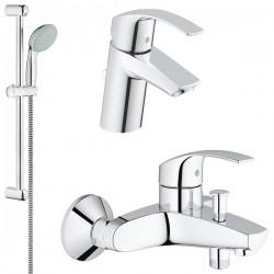 Комплект для ванной со смесителем Grohe Eurosmart 124446 (33300002,33265002,27853000)