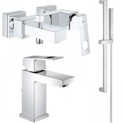 Комплект для ванной со смесителем Grohe Eurocube 23140-23127 (23140000,23127000,27936000)
