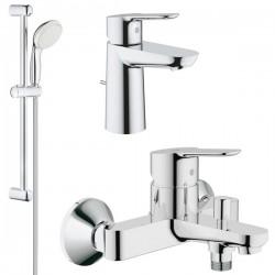 Комплект для ванной со смесителем Grohe Bauedge 23334-23328 (23334000,23328000,27598001)