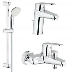 Комплект для ванной со смесителем Grohe Eurodisc Cosmopolitan 33390-33190 (33390002,33190002,27598001)