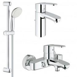 Комплект для ванной со смесителем Grohe Eurostyle Cosmopolitan 33591-33552 (33591002,33552002,27598001)