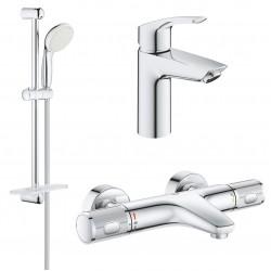 Комплект для ванной с термостатом Grohe Eurosmart Grohtherm 1000 Performance 34779-32467 (34779000,32467002,27926001)