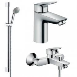 Комплект для ванной со смесителем Hansgrohe Logis 71400-71100 (71400000,71100000,27763000)