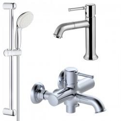 Комплект для ванной со смесителем Adiante Scat Classic AD-26022-26021CR