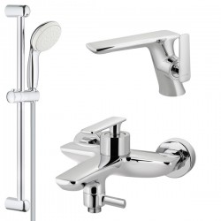 Комплект для ванной со смесителем Adiante Atria AD-28022-28021CR