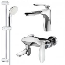 Комплект для ванной со смесителем Adiante Viola AD-29022-29021CR