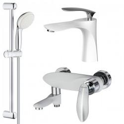 Комплект для ванной со смесителем Adiante Viola AD-29022-29021WHCR