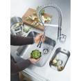 Смеситель для кухни профессиональный, выдвижной гибкий излив Grohe K7 32950000