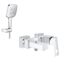 Смеситель для ванны с душевым гарнитуром Grohe Eurocube SmartActive 130 2314026588