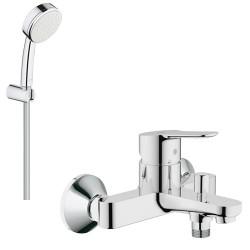Смеситель для ванны с душевым гарнитуром Grohe Bauedge 23334000-26084002