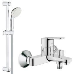 Смеситель для ванны с душевым гарнитуром Grohe Bauedge 23334000-27924001