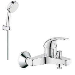 Смеситель для ванны с душевым гарнитуром Grohe BauCurve 32806000-26084002