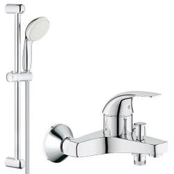 Смеситель для ванны с душевым гарнитуром Grohe BauCurve 32806000-27924001