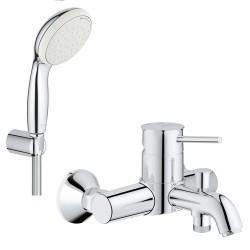 Смеситель для ванны с душевым гарнитуром Grohe BauClassic 3286526084