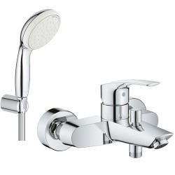 Смеситель для ванны с душевым гарнитуром Grohe Eurosmart 33300002-26084002