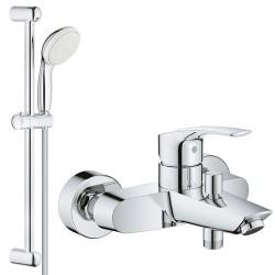 Смеситель для ванны с душевым гарнитуром Grohe Eurosmart 33300002-27924001