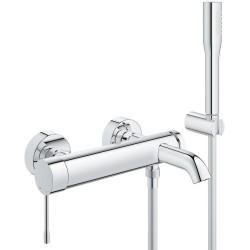 Смеситель для ванны с душевым гарнитуром Grohe Essence New 33628001