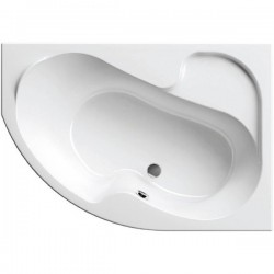 Ванна акриловая асимметричная правосторонняя Ravak Rosa I CV01000000 140х105