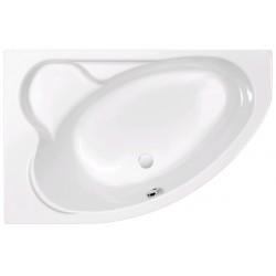 Ванна акриловая асимметричная левосторонняя Cersanit Kaliope P-WA-KALIOPE-153-LNL 153х100