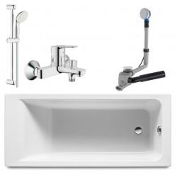 Ванна акриловая прямоугольная Roca Easy ZRU9302905 170х70 со смесителем и душем