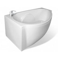 Ванна из литьевого мрамора асимметричная левосторонняя Эстет Грация (170х94)