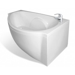 Ванна из литьевого мрамора асимметричная правосторонняя Эстет Грация (170х94)
